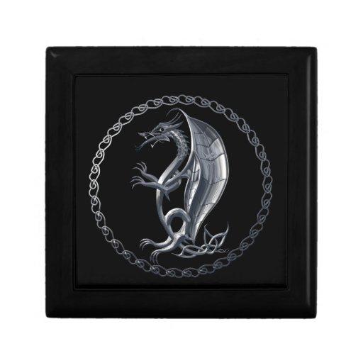 Silver Celtic Dragon Gift Boxes