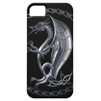 Silver Celtic Dragon iPhone SE/5/5s Case