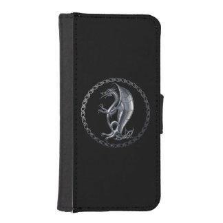Silver Celtic Dragon iPhone 5 Wallet Case