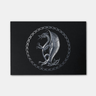 Silver Celtic Dragon Post-it® Notes
