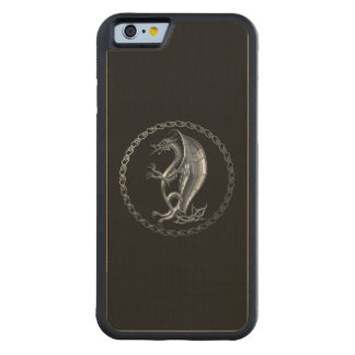 Silver Celtic Dragon Carved® Maple iPhone 6 Bumper Case