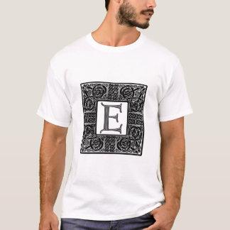 "Silver Celtic ""E"" Monogram T-Shirt"