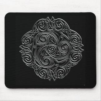 Silver Celtic Emblem Mouse Pad