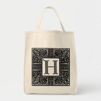 "Silver Celtic ""H"" Monogram Bags"