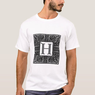 "Silver Celtic ""H"" Monogram T-Shirt"