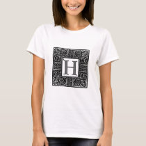 "Silver Celtic ""H"" Monogram T-Shirt"
