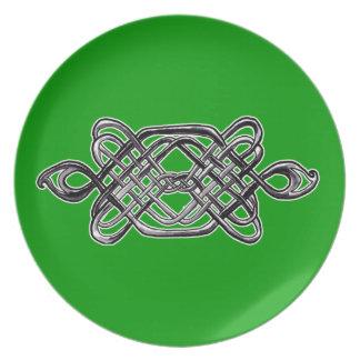 Silver Celtic Hexagon Plate