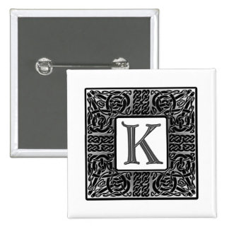 "Silver Celtic ""K"" Monogram Pin"