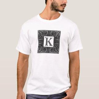 """Silver Celtic """"K"""" Monogram T-Shirt"""
