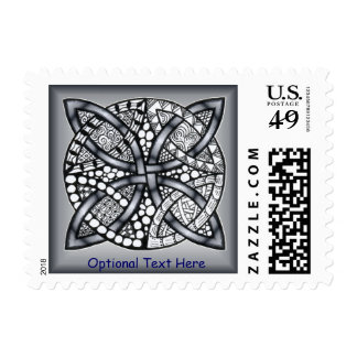 Silver Celtic Knot Customizable Postage