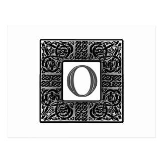 "Silver Celtic ""O"" Monogram Postcards"