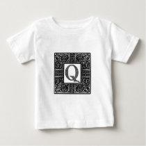 "Silver Celtic ""Q"" Monogram Baby T-Shirt"