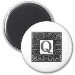 "Silver Celtic ""Q"" Monogram Magnet"