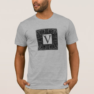 """Silver Celtic """"V"""" Monogram T-Shirt"""