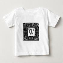 "Silver Celtic ""W"" Monogram Baby T-Shirt"