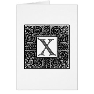 "Silver Celtic ""X"" Monogram Cards"