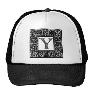 "Silver Celtic ""Y"" Monogram Trucker Hat"