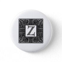 "Silver Celtic ""Z"" Monogram Button"