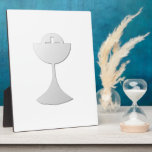 Silver Chalice and Host Display Plaque