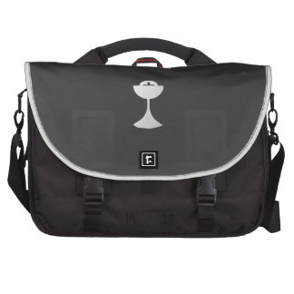 Silver Chalice and Host Laptop Bag