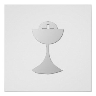 Silver Chalice and Host Poster