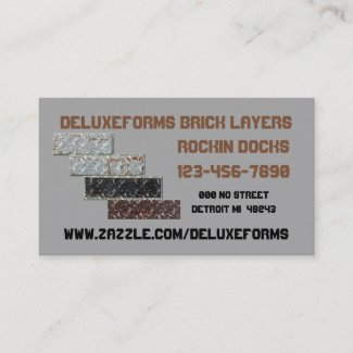 Silver Chalice Bricklayers Business Card
