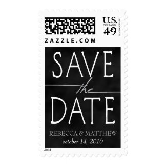 Silver Chalkboard Save the Date Stamp