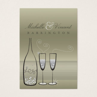 Silver Champagne Wedding Anniversary DIY Gift Tags