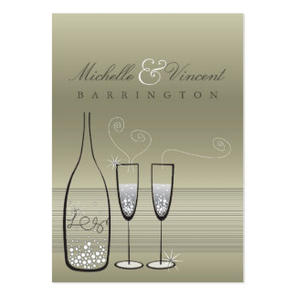 Silver Champagne Wedding Anniversary DIY Gift Tags Large Business Card