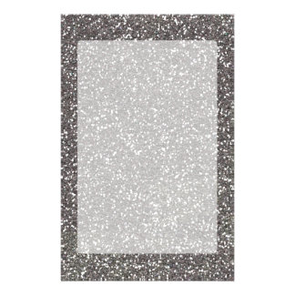 Silver Charcoal Texture Decor Stationery