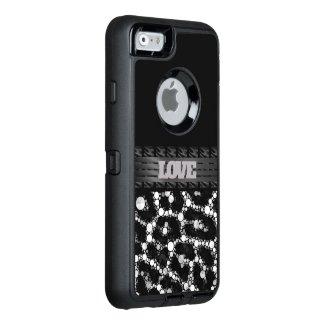Silver Cheetah Love OtterBox iPhone 6/6s Case