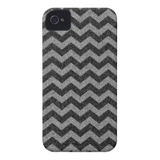 Silver Chevron Sparkly Glitter iPhone 4 Case