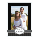 Silver Chic Photo 25th Wedding Anniversary Party Personalized Announcements