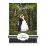 Silver Chic Wedding Thank You Photo Card Personalized Invites