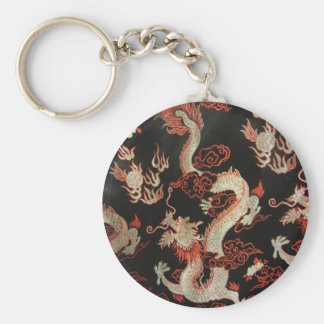 Silver Chinese Dragon Keychain