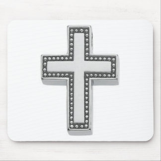 Silver Christian Cross/Easter Mouse Pad
