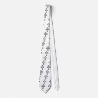 Silver Christian Cross/Easter Tie