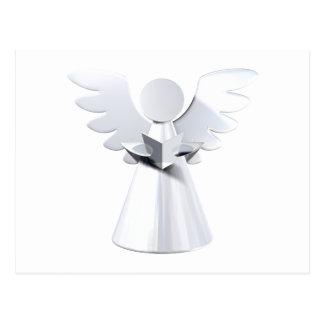 Silver Christmas angel Postcard