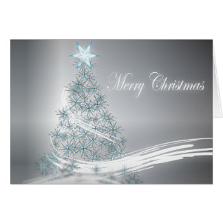 Silver Christmas Corporate Greeting Greeting Card