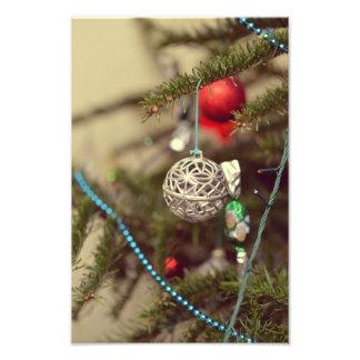 Silver Christmas ornament Photo