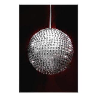 Silver Christmas ornament Photo Print