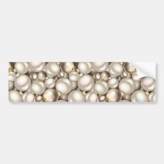 silver christmas ornaments bumper sticker