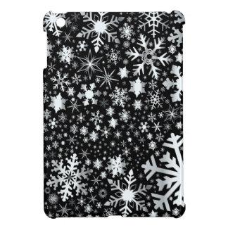 Silver Christmas Snowflakes iPad Mini Cases
