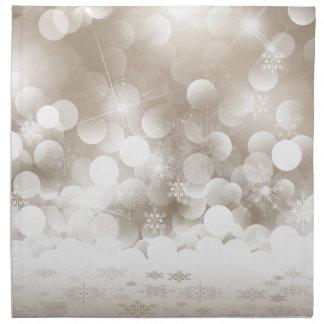 Silver Christmas Snowflakes Napkins