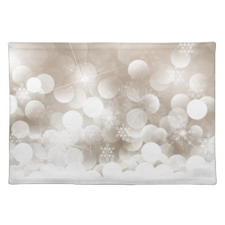 Silver Christmas Snowflakes Placemat