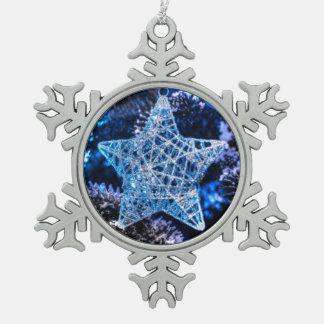 Silver Christmas Star of Bethlehem Ornament