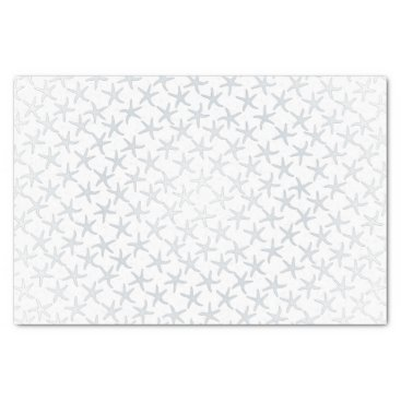 Christmas Themed Silver Christmas Stars Pattern Tissue Paper