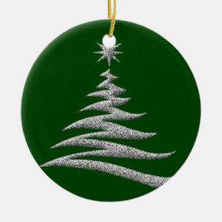 Silver Christmas Tree Ornament