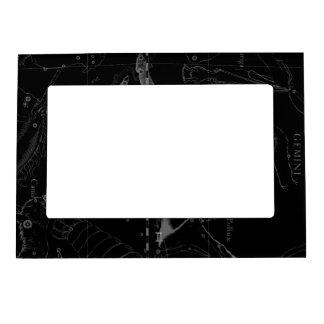 Silver Chrome like Gemini Zodiac Sign on Hevelius Magnetic Photo Frame
