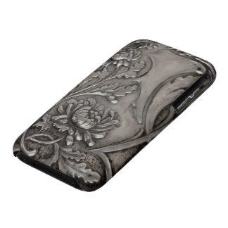 silver chrysanthemum iphone4case Case-Mate iPhone 3 case
